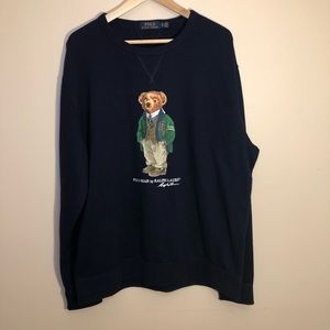 Polo Ralph Lauren Navy Polo Bear Crewneck